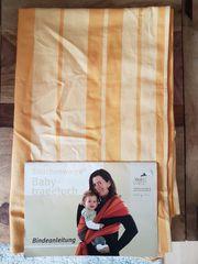 - NEUWERTIG - Storchenwiege Babytragetuch gelb-orange 410cm