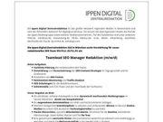 Teamlead SEO Manager Redaktion m