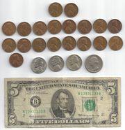 Münzen Banknote Vereinigte Staaten von