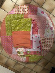 Sitzkissen und Vorhang für Kinderzimmer