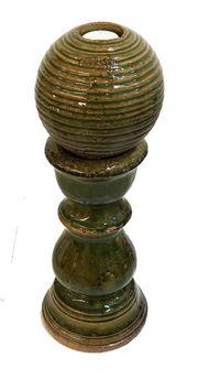 Keramik Säule 49cm mit Kugel