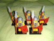 5x Minifiguren Römer Ritter Armee