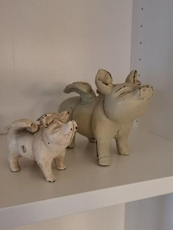 Sammler Sparschweine aus Gusseisen