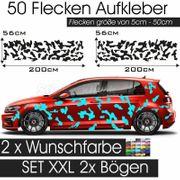 Auto Dekor Aufkleber Tarnmuster Flecktarn