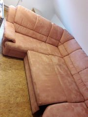 Couch Velour Koralle
