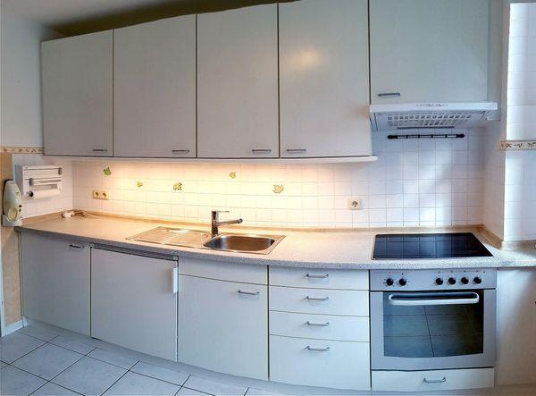 HUMMEL Einbauküche Küchenzeile Küche inkl. Herd (Bauknecht) & Kühlschrank (Liebherr) E-Geräte