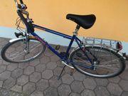28 Alu-Fahrrad blaues Herren-Trekkingrad