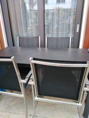 Balkonmöbel Gartenmöbel Tisch und 4