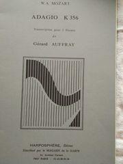 Klaviernoten Pianobuch Orgelheft W A