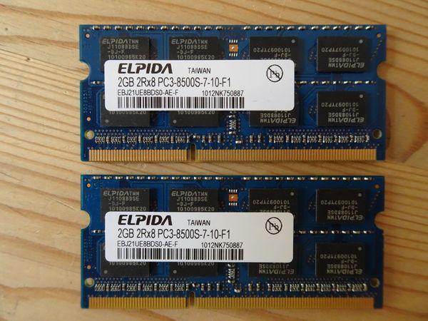 LAPTOP Arbeitsspeicher DDR3 PC3 2