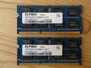 LAPTOP Arbeitsspeicher 2x2 4GB PC3