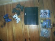 Playstation 3 mit 4 Kontrollern