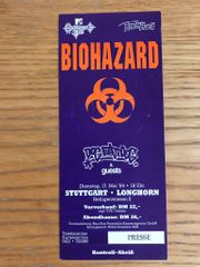Biohazard Ticket Konzertkarte alt 1994