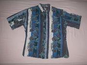 Vintage Hemd kurz GAUCHO Blau