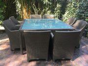 Dedon Barcelona Gartenmöbel Tisch Stühle