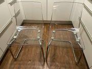 2 Design Acryl Stühle mit