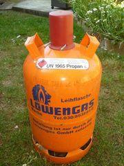 Propangasflasche 11kg Löwengas leer Gasflasche