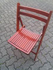 Roter Holz Klapp Stuhl