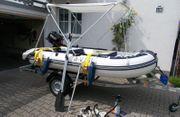 Schlauchboot mit Suzuki 6PS 4-Takt