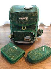 Verkaufe Ergobag Schultasche grün inkl