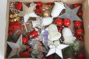 Konvolut Weihnachtsdeko-Anhänger Kugeln Spiegel-Sterne zum