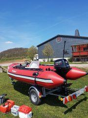 Motorboot Schlauchboot inkl Trailer 15