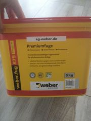 Weber Fugenmörtel 5kg Silbergrau