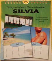 Kalender und Kugelschreiber Silvia