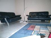 Couch Leder schwarz 2-sitzer 2