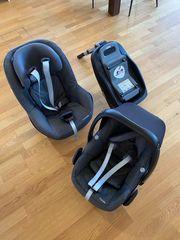 MaxiCosi Kinder-Autositz-Set Pebble Pearl Isofix