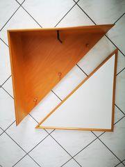 Holzgarderobe mit Spiegel 2-tlg