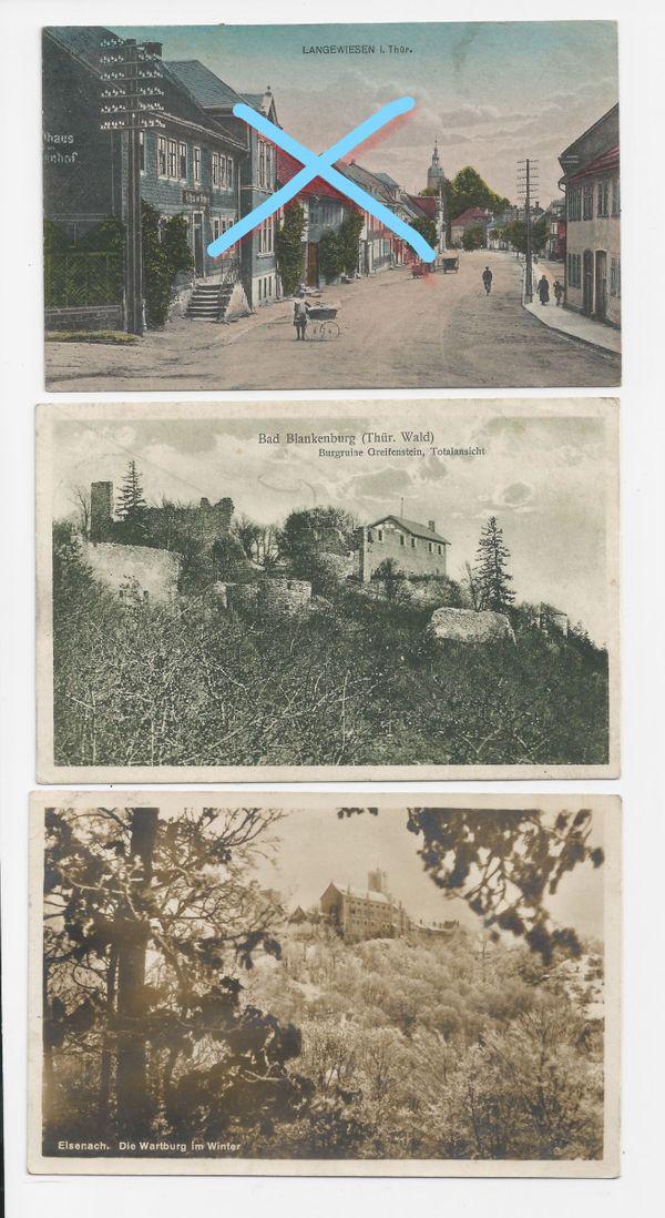 Feld-PK und Postkarten 1917 - 1930
