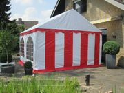 Partyzelt Gartenzelt 4x4m PVC rot