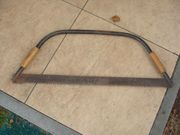 Bügelsäge alt antik 80x30cm