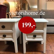 Weisse Klein-Kommode mit Schublade Vintage