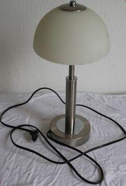 Moderne Tischlampe - Nickel-matt - Opalglas - WOFI-Leuchten -