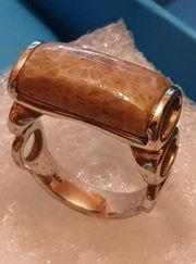Silber Herren Damen Ring - Silber