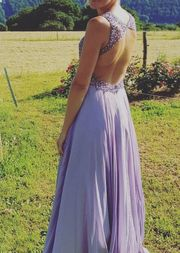 Unique langes Abendkleid flieder lila