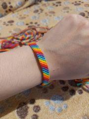 Armbänder schmal Regenbogen Bunt CSD