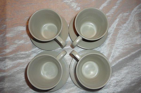 4 Dinera Tassen Klein Untertasse
