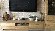 TV Board Wildeiche massiv