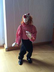 UNBESPIELT Marionette Clown Handarbeit