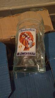Oktoberfest LÖWENBRÄU Bier Gläser Halbe
