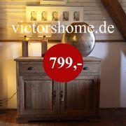 Sideboard Kommode Echtholz Teakboard Natur