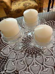 Kerzenständer - 3 Set - Glas