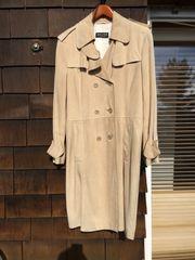 Damen Trenchcoat Ziegenvelourleder