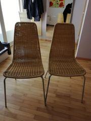 2 Stühle Korbgeflecht
