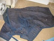 dunkelblaue pferdedecke 130 cm rückenlänge
