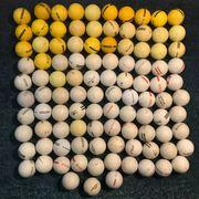 100 verschiedene gebrauchte Golfbälle