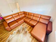 Echt Leder Designer Couch Sitzgruppe